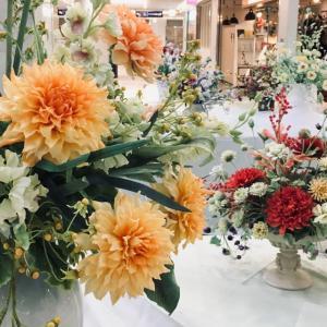 横浜そごう9階、クレイのお花の地域展、始まりました。