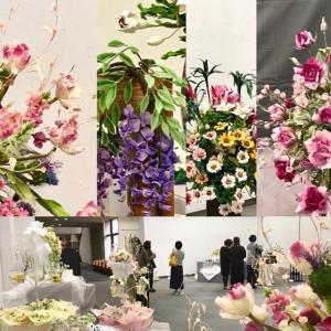 明日まで開催‼️粘土のお花の展示会。