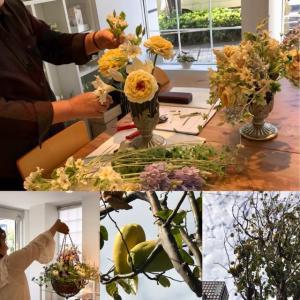 粘土で作るお花の教室/新聞に掲載されました‼️