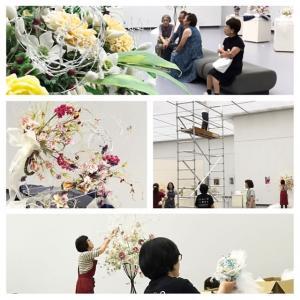 2019.クレイのお花の展示会 名古屋展始まりました。。。