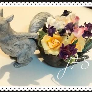 クレイで作るお花の教室、東京ブロック展。。。