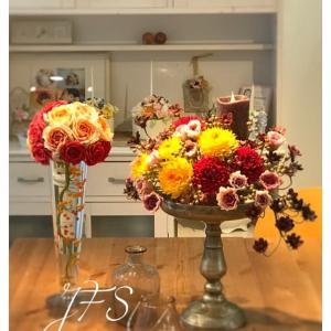 粘土のお花、交通会館で展示会。。。