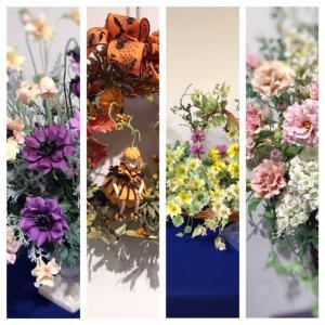 クレイのお花 ルナ.フローラ東京ブロック展9月7日まで。。。