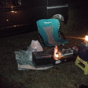 令和元年 第19回キャンプ 秘密の場所で仕事終わりからの車中泊キャンプ