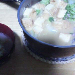 9/23(月) 休肝日。味噌鍋でノンアル。