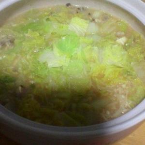 10/18(金) 風邪ひいたので鍋を食う。