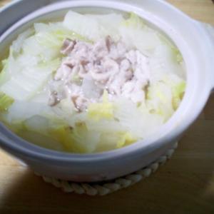 7/6(月) 白菜で常夜鍋。うどんに雑炊と、食いまくった。