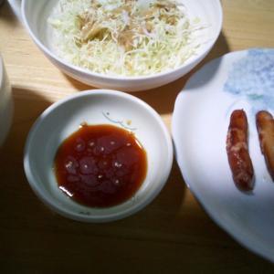 7/13(月) ウインナー焼いて食った。