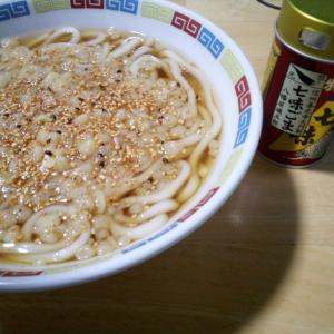 7/28(火) 昼うどん。晩は明太クリームスパゲティ。
