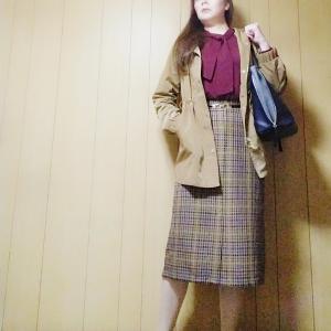 【GU】990円のチェックナローミディスカートでコーデ