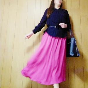 【上下GU】着映えスカートでコーデ
