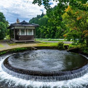 山都町の円形分水
