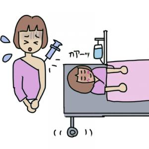 緊張の大腸内視鏡検査