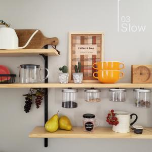 【無料DL】キッチン背面棚 秋仕様に変更しました。