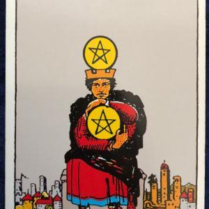 今日のカード(ペンタクルの4)