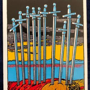 今日のカード(ソードの10)