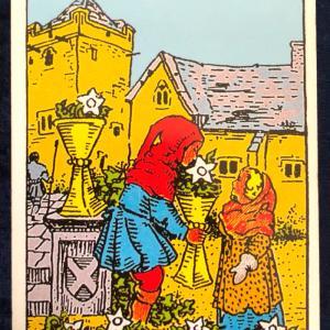 今日のカード(カップの6)
