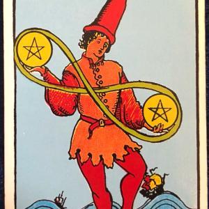 今日のカード(ペンタクルの2)