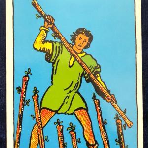 今日のカード(ワンドの7)