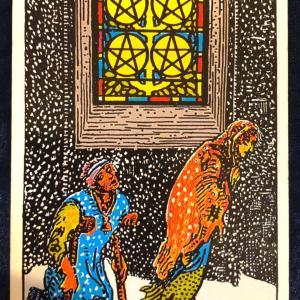 今日のカード(ペンタクルの5)
