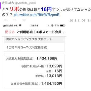 【神】リボ元金返済額が16円@月