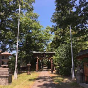 大和の国より遷宮されたという墨坂神社に立ち寄る @須坂市
