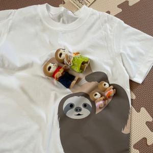 なまけものTシャツとフィギュアをだめにするフルーツクッション