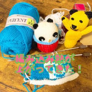 編み込み楽しすぎてお風呂入るの忘れた(∩∀`*)やっぱり楽しい編み込み模様♪