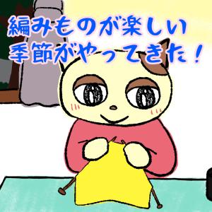 夏の終わりはワクワク編み物季節のはじめ♪嬉しい(^∀^)