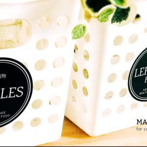 冷蔵庫ラベル   円型おしゃれな冷蔵庫ラベルシール。(黒ver)++
