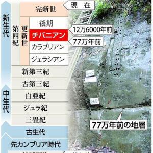 【千葉時代】命名「チバニアン」 77万4000〜12万9000年前の地質時代 国際学会決定