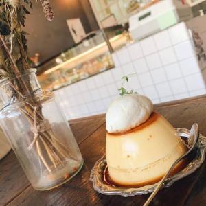 《カフェ巡りレポ》ふた口目に恋をした『A WORKS CHEESE CAKE CAFE』さんのチーズプリン。