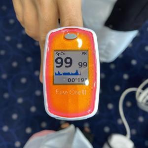 体温と酸素飽和度の計測のお願い