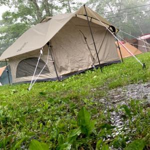 【 広いサイトで自然を満喫】戸隠キャンプ場へ行ってきました! 雨だったけど・・・