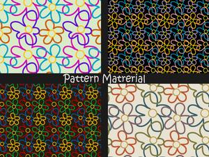 花のパターン(パターン素材)
