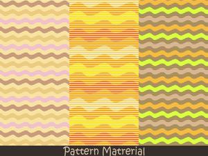 波線パターン(パターン素材)