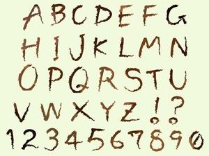 アルファベット・数字(文字イラスト素材)