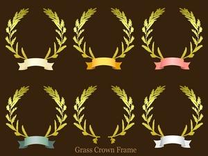 草の冠フレーム(フレーム素材)