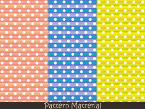 白丸ドット(パターン素材)