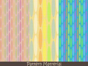 楕円模様(パターン素材)