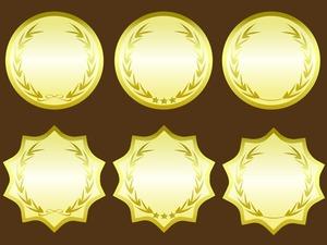 金色のラベルフレーム(フレーム素材)