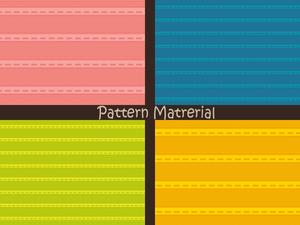 破線と編み目(パターン素材)