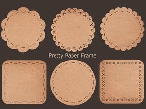 飾り穴付きの紙(フレーム素材)