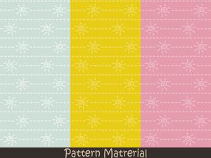太陽と点線(パターン素材)