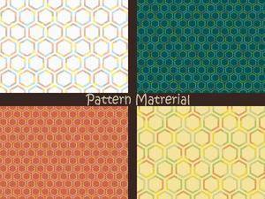 ハチの巣模様(パターン素材)