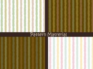 手描き風のストライプ(パターン素材)