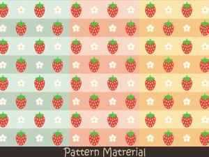 苺のパターン(パターン素材)