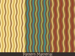 縦の波線(パターン素材)