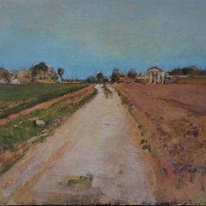 フランス風景画の旅 オーベルの田舎道