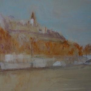 フランス風景画の旅 パリ左岸 セーヌの船着き場